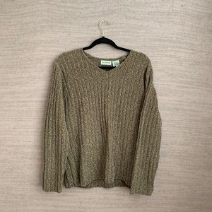 VTG Ribbed Fall Chenille Sweater